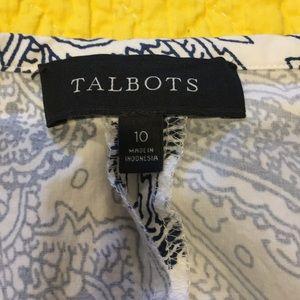 Talbots Skirts - Talbots blue and white skirt sz 10